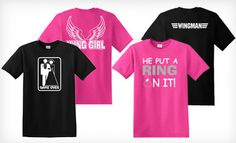 Create matching shirts for bachelor and bachelorette parties