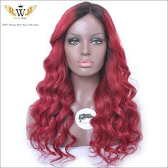 Find More Human Wigs Information about 5A 150 Density Glueless Red Curly Lace…
