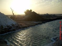 Salt lake in Tunisia