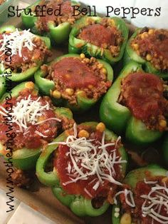 Stuffed bell pepper recipe...Perfect for a large group of people.