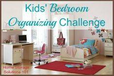 bedroom organizing for kids