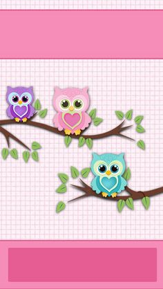 iBabyGirl Owl Pink Home Screen Wallpaper.