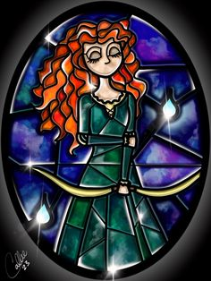 Stained Glass Merida by CallieClara.deviantart.com on @DeviantArt