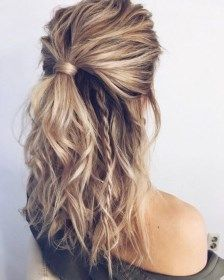 52 Simplest and most beautiful hairstyle for medium-length hair DIY afro bangs hair hair styles mujer peinados perm style curly curly Curly Hair Styles, Medium Hair Styles, Hairstyles For Medium Length Hair Easy, Hairstyle For Medium Length Hair, Hair Down Styles, Cute Hairstyles For Medium Hair, Medium Hair Braids, Hair Styles With Dresses, Hair Down Braid