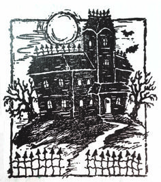 Serendipity Rubber Stamp HALLOWEEN HAUNTED HOUSE