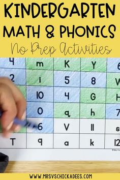 No prep phonics and math worksheets for kindergarten. Print and go packs are great for sending home, distance learning, fast finishers, sub packs, and more! Perfect send home packets for kindergarten Kindergarten Math Worksheets, Phonics Worksheets, Kindergarten Lessons, Math Lessons, Phonics Centers, Cvce Words, Fast Finishers, Literacy Stations, Letter Sounds