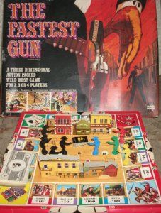 The Fastest Gun - a huge boxed game where gunslingers died by falling through holes in Main Street. Old Board Games, Vintage Board Games, Game Museum, Bored Games, Old Toys, Main Street, Vintage Advertisements, Happy Day, Vintage Toys