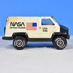 Nasa Van Tonka 1980s Wheels repainted Approximately 2 inches tall and 3.5 inches long
