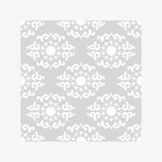 Шторы «Нежно-серый азиатский орнамент №2»