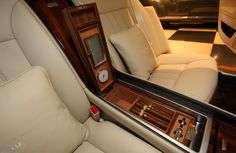 A cigar compartment in your car? Now that's luxury! or any other kind of compartment like that would be balllllin