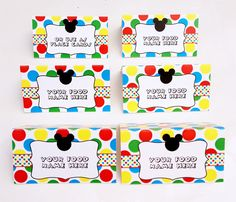 Mickey Mouse Clubhouse Party Food Labels