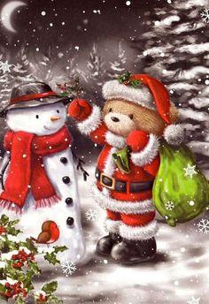 27 karácsonyi mackó   PaGi Decoplage