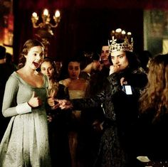 Rock scissors paper? Adorable behind the scenes from The White Queen (Aneurin Barnard and Freya Mavor)