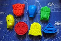 7 x Superhero Soap  Transformers Iron Man Spiderman by NerdySoap