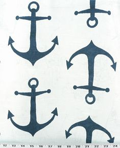 Anchors Premier Navy / Slub | Online Discount Drapery Fabrics and Upholstery Fabric Superstore!