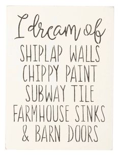 Another great find on zulily! I Dream of Shiplap Walls Indoor/Outdoor Wall Sign by Saras Signs zulilyfinds - Home Decorating Diy Ideas