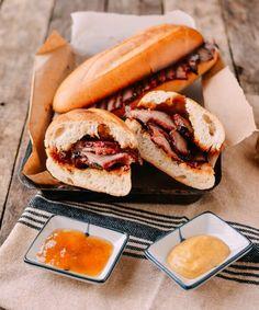 o Roasted Pork Belly Recipe, Pork Belly Recipes, Pork Roast Recipes, Roast Pork Garlic, Braised Pork, Garlic Bread, Roast Pork Sandwich, Bbq Roast, Diner Recipes