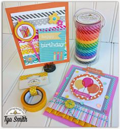 Doodlebug Design Inc Blog: Fun Washi Tape Borders with Tya