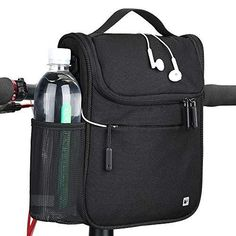 """Rhinowalk Bike Handlebar Bag,Bike Front Bag Road Bike Bag Bike Frame Bag Bike Basket Bag Bicycle Bag Professional Cycling Accessories 2 IN 1 MULTIFUNCTIONAL BAG: Bike handlebar bag and shoulder bag as needed. With buckles on both sides of the bag, can be attached to the handlebar through the snap closures and can easily be attached or detached. Comes with a shoulder strap, can be used to carry the bag around after detached from bicycle. Durable.The bag is made of a material called """"Twill Fabric"""" Bike Saddle Bags, Bicycle Bag, Bike Frame Bag, Cycling Accessories, Bike Handlebars, Large Bags, Road Bike, Shoulder Strap, Crossbody Bag"""