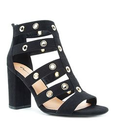Take a look at this Qupid Black Studded Chester Sandal today!