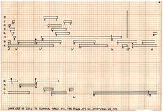 John Cage. Score for Imaginary Landscape No. 5, 1952