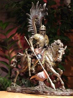 Bronze Polish Winged Hussar Figurine Types Of Armor, Chivalry, Medieval Fantasy, Eastern Europe, Horse Riding, Romans, Knights, Renaissance, Battle