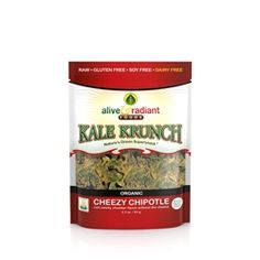 Alive & Radiant Cheezy Chipotle Kale Krunch. Pricey but spicy...a worthy snackable.