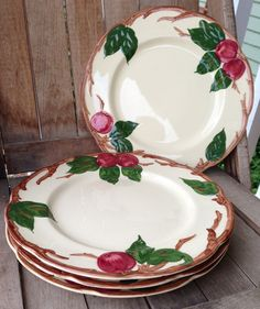 Franciscan Ware Apple China  Set of 4 Medium by EverySomeday, $60.00