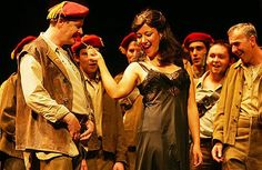 Marion Newman as Carmen with David Delargy as Morales. (Opera2005)