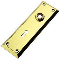 Classic, Wrought Brass, Square Bevel Escutcheon.