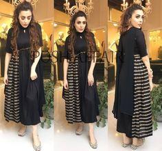 #pintrest@Dixna deol All Black Dresses, Simple Dresses, Pretty Dresses, Casual Dresses, Fashion Dresses, Western Dresses, Indian Dresses, Indian Outfits, Indian Attire