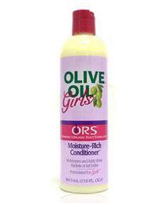 ORS Olive Oil Girls Moisture Rich Conditioner. Acondicionador hidratante para niñ@s con aceites orgánicos. www.rizadoafroymas.es