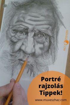 Portré rajzok - Így készítsd őket profin! Katt és tudd meg a Titkot! >> Art, Art Background, Kunst, Performing Arts, Art Education Resources, Artworks