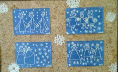 Holidays, School, Frame, Decor, Winter Time, Xmas, Pintura, Picture Frame, Holidays Events