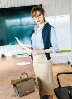 Japan Fashion, India Fashion, Kimono Fashion, Bikini Fashion, Korean Fashion, Maxi Pencil Skirt, Pencil Skirt Outfits, Office Fashion, Work Fashion