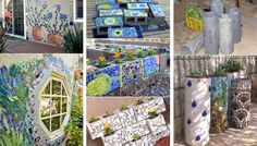 Simple and cute DIY mosaic ideas for your garden and yard When Home deco and DIY need inspiration Simple and cute DIY mosaic ideas for your garden and yardSimple and cute DIY mosaic ideas for your Mosaic Crafts, Mosaic Projects, Mosaic Ideas, Garden Projects, Garden Ideas, Mosaic Designs, Mosaic Vase, Mosaic Flower Pots, Pebble Mosaic