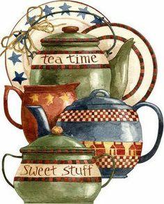 LOVE this crockery....tea time and sweet stuff?? precious.