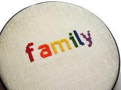 Family modern cross stitch by wallwork on Etsy, $40.00