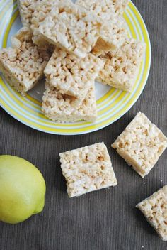 Lemonade Rice Krispie Treats-awesome twist!