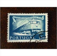 Portugal 1956 Portuguese Railways electric locomotive fine used stamp SG1137 on eBid United Kingdom
