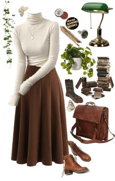Teen Fashion Outfits, Mode Outfits, Retro Outfits, Classy Outfits, Fall Outfits, Vintage Outfits, Fashion Pants, Fashion Skirts, Grunge Outfits