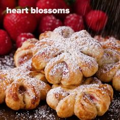 Puff Pastry Decorations 4 Ways. You can get accidentally vegan puff pastry! Baking Recipes, Dessert Recipes, Baking Desserts, Fancy Desserts, Donut Recipes, Easter Recipes, Delicious Desserts, Yummy Food, Puff Pastry Recipes