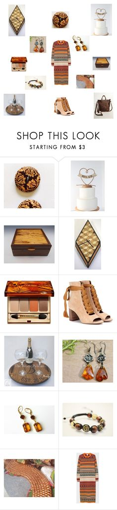 """Brown cream orange"" by einder ❤ liked on Polyvore featuring Clarins, Chloé and Shamballa Jewels"
