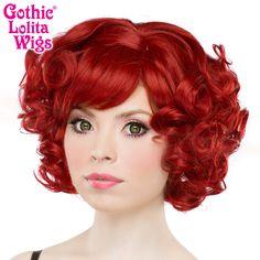 Gothic Lolita Wigs® <br> Curly Bob™ - 00020 Crimson Red