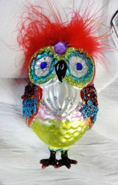 Parrot Owl Ornament - December Diamonds