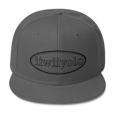 Wool Blend Snapback - Black iiWiiyolo Oval Label