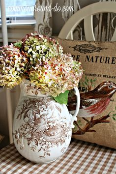 common ground : An Ironstone Pitcher for an Endless Summer Bouquet