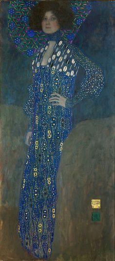 Gustav Klimt, Miss Emilie Floege (1902), via Artsy.net