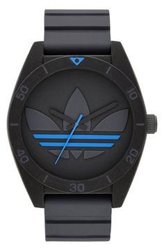 adidas Originals 'Santiago XL' Silicone Strap Watch, 50mm available at #Nordstrom