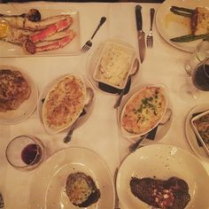Still full from last nights dinner at @sullivanssteakhouse with @circlecitysupperclub! The apps the salad the sides the steak the dessert - all indulgent and delicious! Id have to say the cheesesteak egg rolls and whole roasted cauliflower were most memorable. Now dont mind me Ill just be eating my leftovers all week.